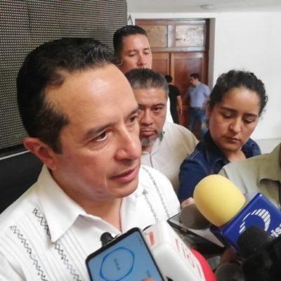Afirma Carlos Joaquín que su gobierno trabaja para conseguir recursos y mantener la atención del problema del sargazo, además de la prevención ante el inicio de la temporada de huracanes
