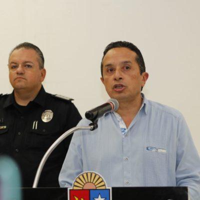 ASUME CARLOS EL CONTROL DE LA POLICÍA EN SOLIDARIDAD: Advierte Gobernador sanciones políticas, administrativas y penales si hay desacato