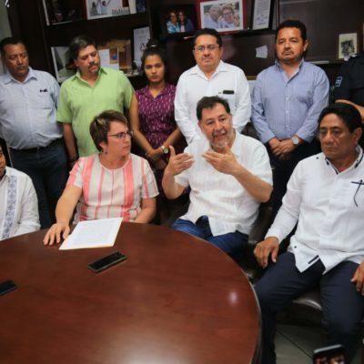 DAN MORENISTAS RESPALDO A LAURA, PERO 'MARA' 'SE ABRE': Cierran filas en torno a la Alcaldesa de Solidaridad tras la intervención estatal en Seguridad Pública de Solidaridad