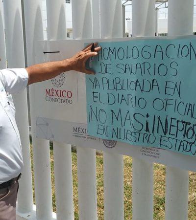 REVUELTA CONTRA EL FISCAL EN CHETUMAL: Trabajadores exigen su renuncia, pago oportuno de salarios, cese de hostigamiento laboral y de órdenes para realizar actos ilegales