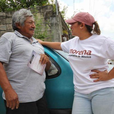 Érika Castillo se compromete a vigilar la correcta aplicación del presupuesto de salud de QR