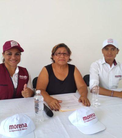 Declina candidata suplente de MC a favor de Alberto Batun