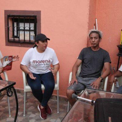 Aprovechará Erika Castillo hasta el último día para hacer campaña en el Distrito 6