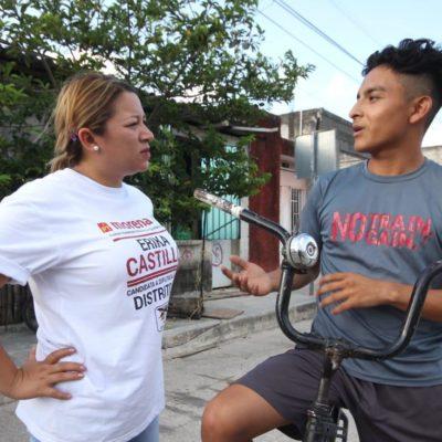 Asegura Erika Castillo que el respaldo ciudadano les dará la victoria el 2 de junio