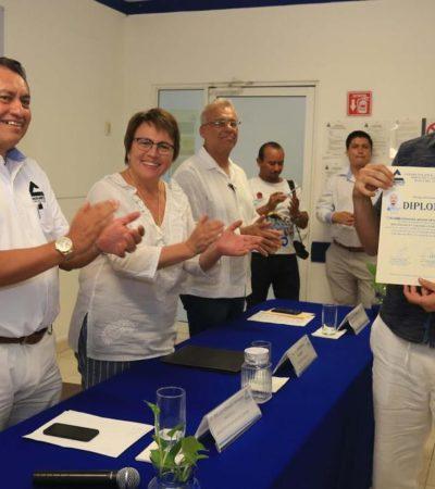 PIDE ALCALDESA CRECER DE FORMA ORDENADA: Clausuran diplomado de asesoría inmobiliaria en Playa del Carmen