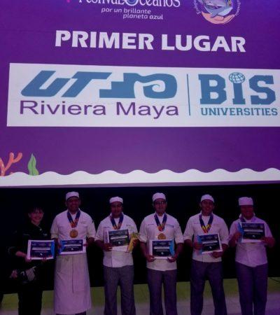 Compiten universidades en el Intercolegial Gastronómico del séptimo Festival de los Océanos del Caribe Mexicano