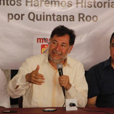 De la mano del PT y PVEM, el morenista Noroña arremete contra Carlos Joaquín porque, dice, no cumplió con la expectativa del cambio