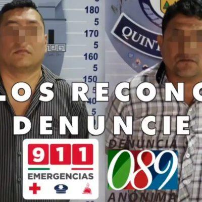 Detienen a dos hombres implicados en el robo de dinero de cajeros automáticos en Cancún