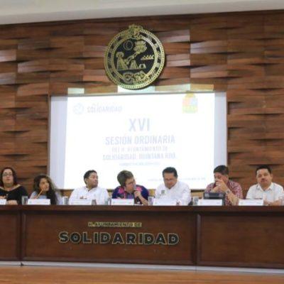 SESIONA CABILDO EN SOLIDARIDAD: Aprueban reforma a la constitución para garantizar paridad de género incluso a nivel municipal