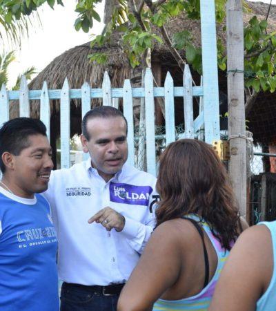 Dice Luis Roldán que con el apoyo ciudadano van a sacar del poder en Solidaridad a la familia Beristain