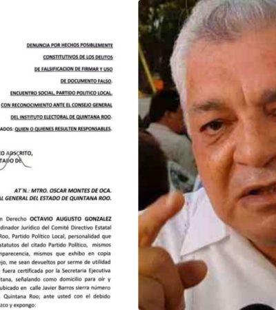 Interpone PESQ denuncia contra Valencia Cardín