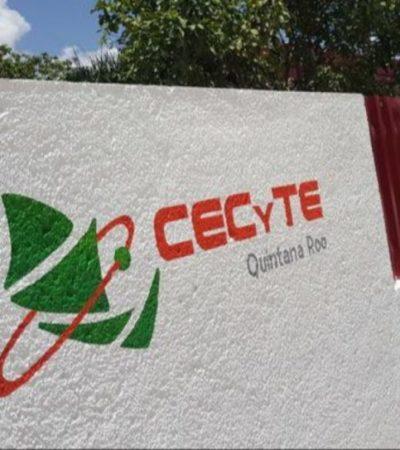 El sindicato de trabajadores del CECYTE en Cancún denuncia el clima de violencia que rodea los planteles educativos, sin que autoridades refuercen la vigilancia policiaca