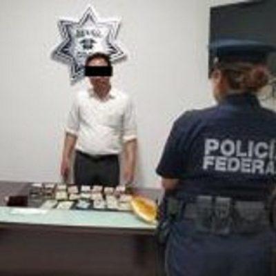 Detienen a cubano con dinero no declarado en el aeropuerto de Cancún
