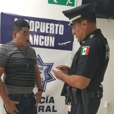 Detienen a hondureños con documentos falsos en el aeropuerto de Cancún