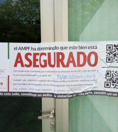 Tras cateo, la FGR aseguró dos edificios en diferentes puntos de Cancún