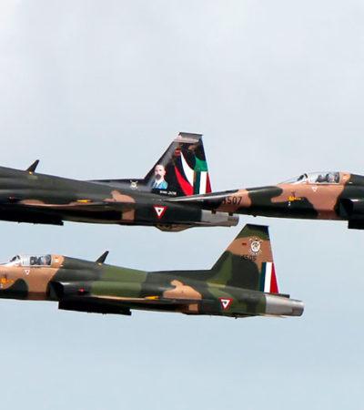 Descarta la Fuerza Aérea Mexicana adquisición de aeronaves durante el sexenio de AMLO