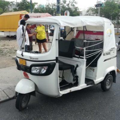 Detienen a mujer que arrolló a mototaxi por no contar con seguro