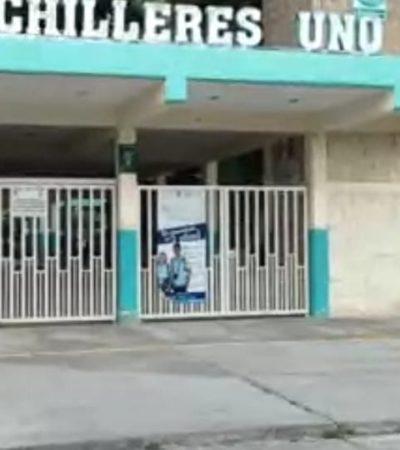 Paran labores trabajadores del Colegio de Bachilleres en Q.Roo