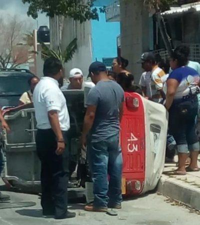 Mototaxista evita atropellar a un perro, pero hiere a su pasajera en Puerto Aventuras