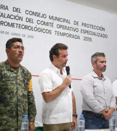 Instalan Comité Operativo Especializado en Fenómenos Hidrometeorológicos en Cozumel
