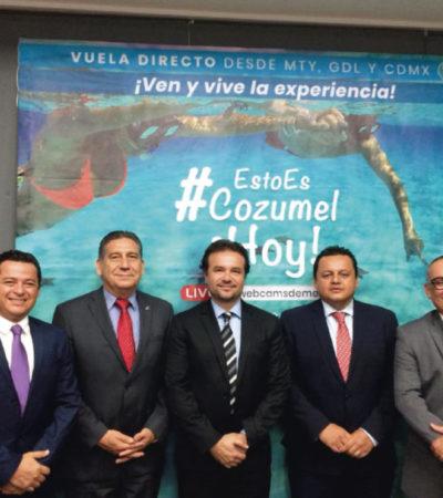 """Pedro Joaquín presenta la campaña de promoción turística """"Esto es Cozumel Hoy"""" en Monterrey"""