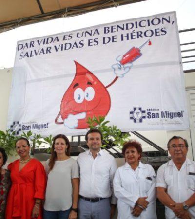 Fomenta Pedro Joaquín la participación ciudadana en la Campaña de Donación de Sangre en Cozumel
