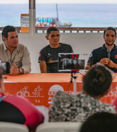 Anuncian el Ultra Triatlón MX 355, evento deportivo respaldado por el gobierno de Cozumel