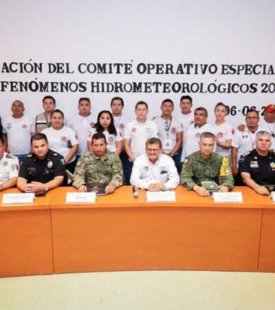 Instalan el Comité Operativo Especializado en Fenómenos Hidrometeorológicos 2019 en Puerto Morelos