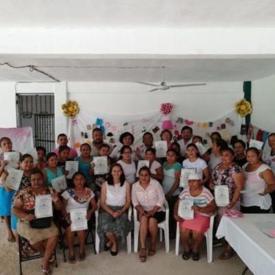 Mujeres de Leona Vicario reciben cursos de capacitación de autoempleo que les permitirá mejorar su calidad de vida