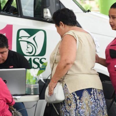 Gobierno de Puerto Morelos y el IMSS realizan jornada gratuita de salud para mujeres