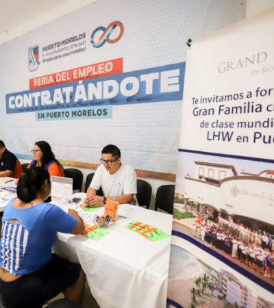 Gobierno de Puerto Morelos organiza la cuarta feria del empleo con más de cien vacantes