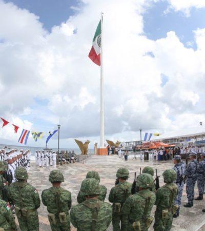 Conmemoran en Cozumel el 102 aniversario del Día de la Marina Nacional