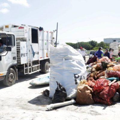 Incrementan trabajos de limpieza en la unidad de transferencia de residuos de Isla Mujeres