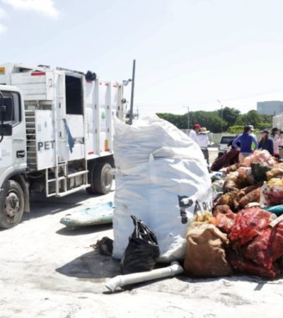 En el Día Mundial de los Océanos, gobierno y sociedad de Isla Mujeres se unen para limpiar manglares y playas