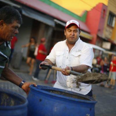 Ponen en marcha programa de limpieza urbana en diferentes puntos de Isla Mujeres