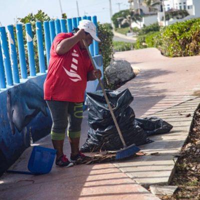 Gobierno de Isla Mujeres redobla trabajos de limpieza para recibir a turismo durante temporada vacacional