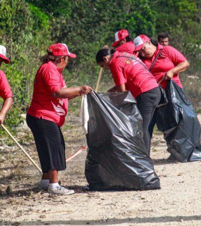 """Programa de limpieza """"Sábados de Isla Verde"""" llega a la zona continental de Isla Mujeres"""