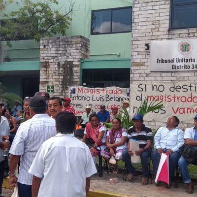 Exigen ejidatarios de Yucatán destituir a magistrado agrario por presuntos actos de corrupción