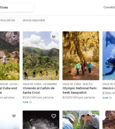 Airbnb lanza paquetes de 'aventuras' con guía personalizado para recorrer los principales destinos de QR