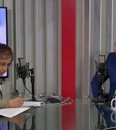 VIDEO | 'No me digas mi reina' pide Carmen Aristegui al ex dueño de Fertinal durante entrevista