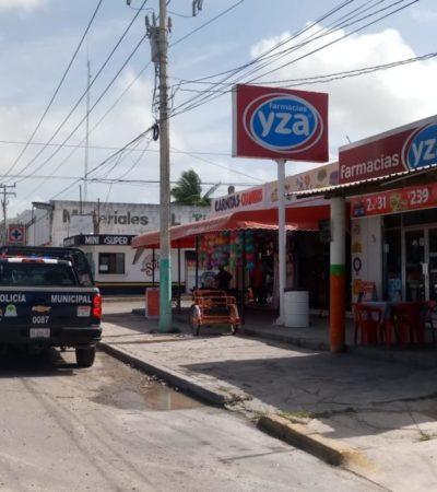 Detienen a dos sujetos que asaltaron una farmacia en Chetumal