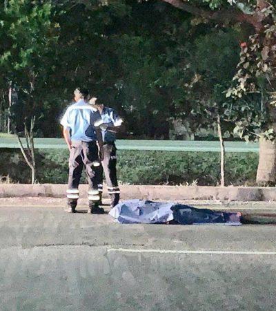 Muere atropellado hombre en la salida sur de Playa del Carmen