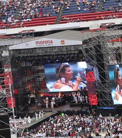 YA VIENE EL 'AMLOFest' A UN AÑO DEL TRIUNFO: Repite 'La Diosa de la Cumbia', ahora en el Zócalo