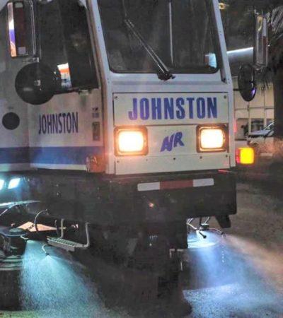 Autoridades de BJ continúan analizando demos de barredoras industriales para mejorar la limpieza e imagen de la ciudad