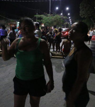 Colonos cierran avenida Rancho Viejo, luego de quedarse sin electricidad