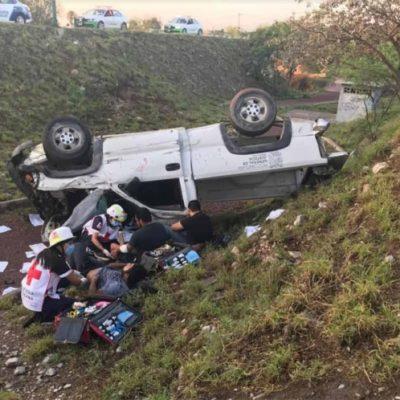 Policías andaban ebrios pese a declaratoria de ley seca en Tamaulipas… y vuelcan patrulla