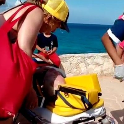 Cae turista de acantilado en Isla Mujeres