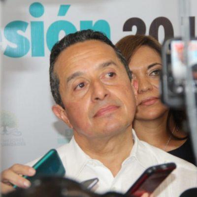 Anuncia Carlos Joaquín que esperan recaudar 600 mdp para la atención al problema del sargazo con fondos de los tres niveles de gobierno