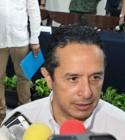 """""""NO ES UN TEMA DE CONVENIOS"""": Adelanta Carlos Joaquín que parte del recurso de Fortaseg de los municipios será para el Mando Único"""