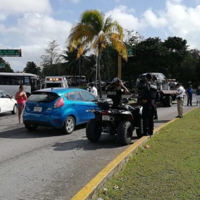 Choque por alcance en la Zona Hotelera de Cancún deja un herido